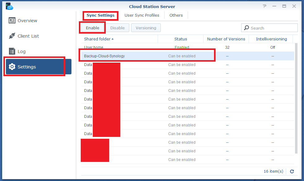 synology how to configure cloud station drive