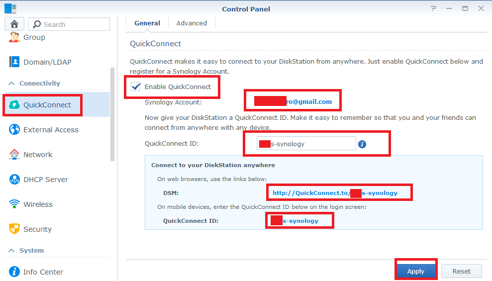 synology quick connect id